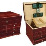 large wooden box with drawers