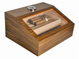 light brown wooden cigar box