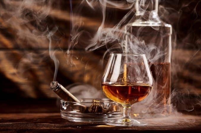 Glass of cognac or brandy