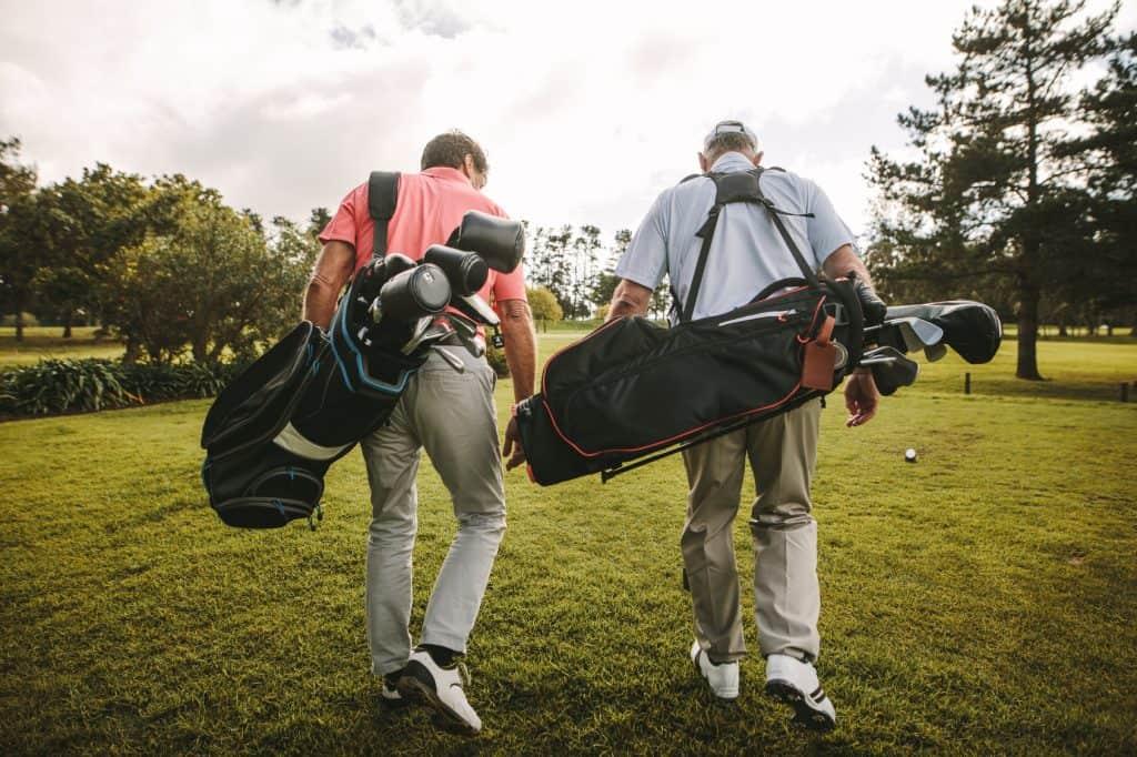two golfer friends