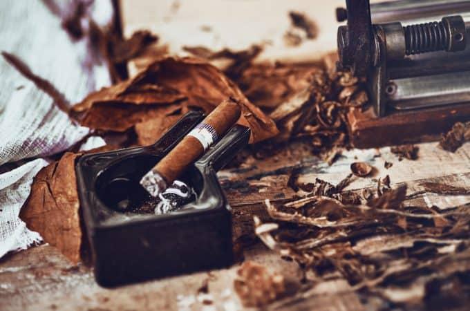 close up of a Cuban cigar