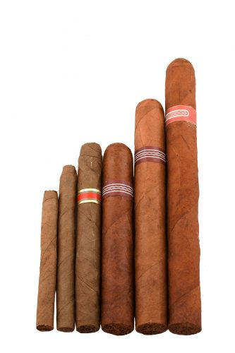 Various sizes of Cuban cigar