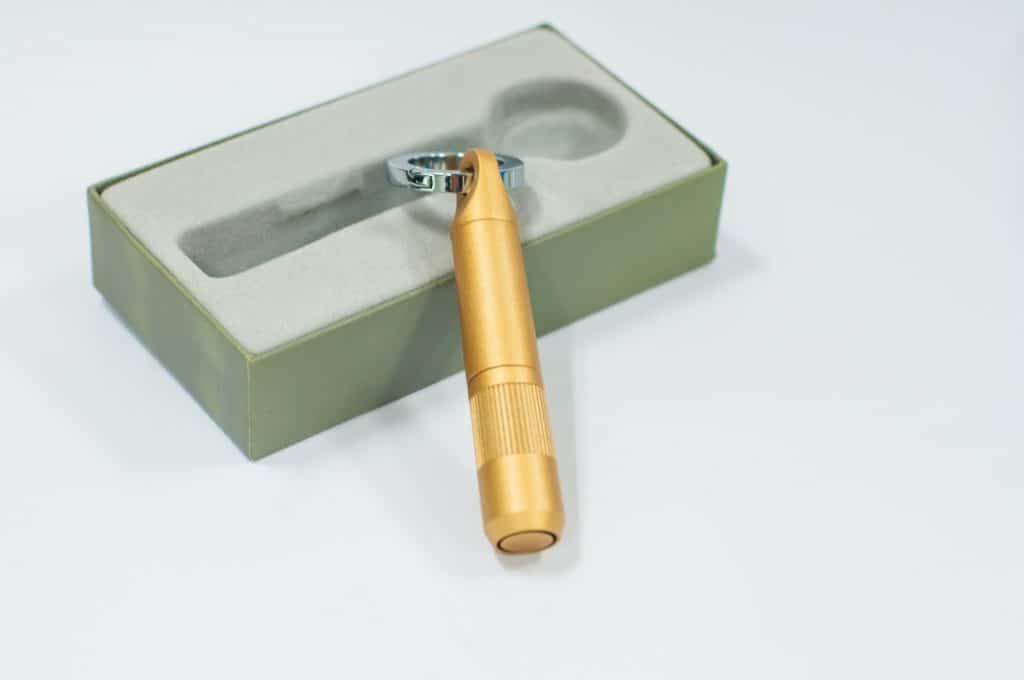 Gold cigar punch