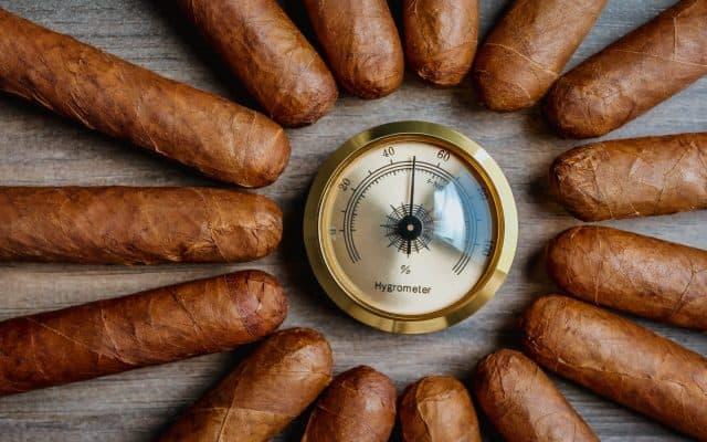 Cigars with humidor