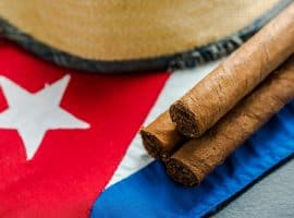 cigars on a cuban flag