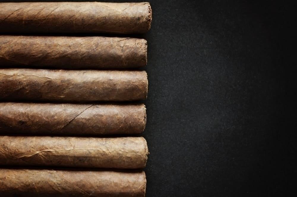 cigar on black background